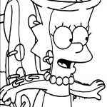 One The Simpsons Coloring Page