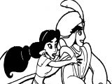 Prince Aladdin Walt Disney Fly Coloring Page