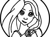 Rapunzel And Flynn Circle Coloring Page