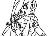 Rapunzel And Flynn Thinking Coloring Pages
