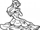 Rapunzel Belle Disney Princess Coloring Page
