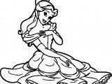 Rapunzel Belle Disney Princess Coloring Page