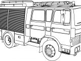 Renault G230 Fire Department Coloring Page