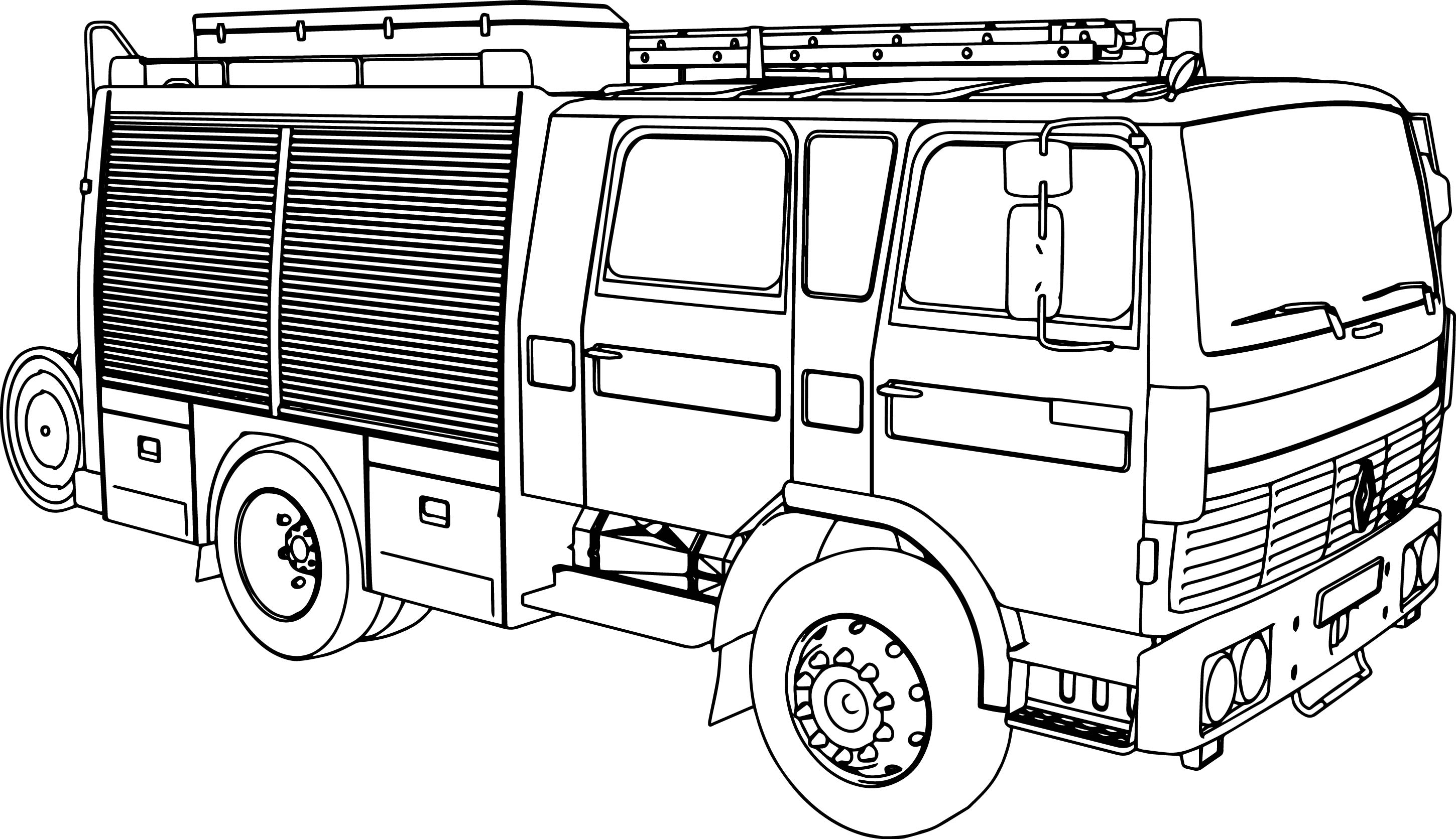 Renault g230 fire department coloring page for Fire station coloring page