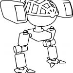 Robot Mech Character Coloring Page