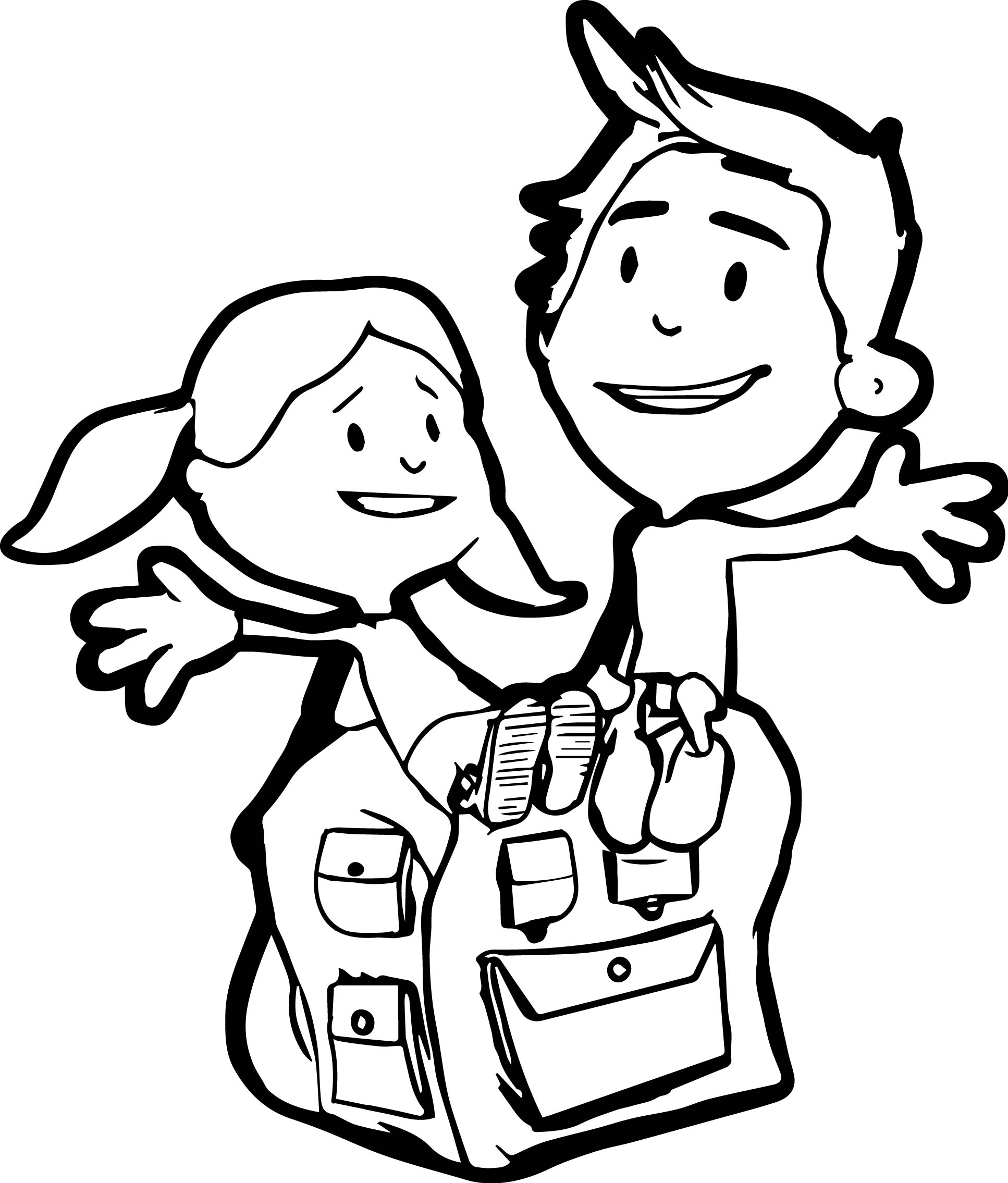 School Time Coloring Page