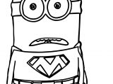 Shock Superman Minions Coloring Page