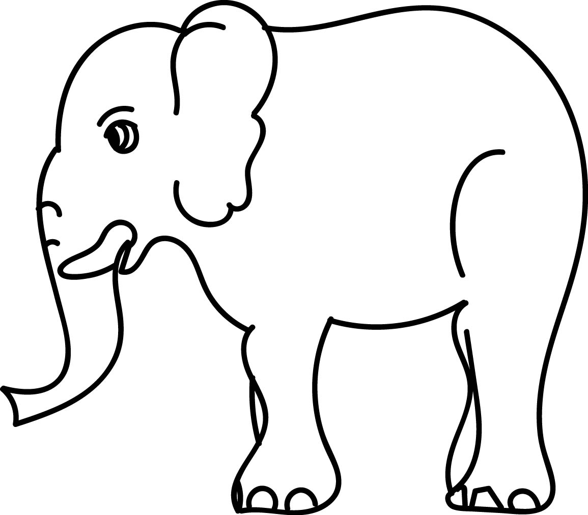 Side Elephant Coloring Page