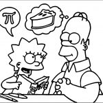 Simpsons Math And Food Coloring Page