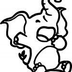 Sleep Elephant Coloring Page