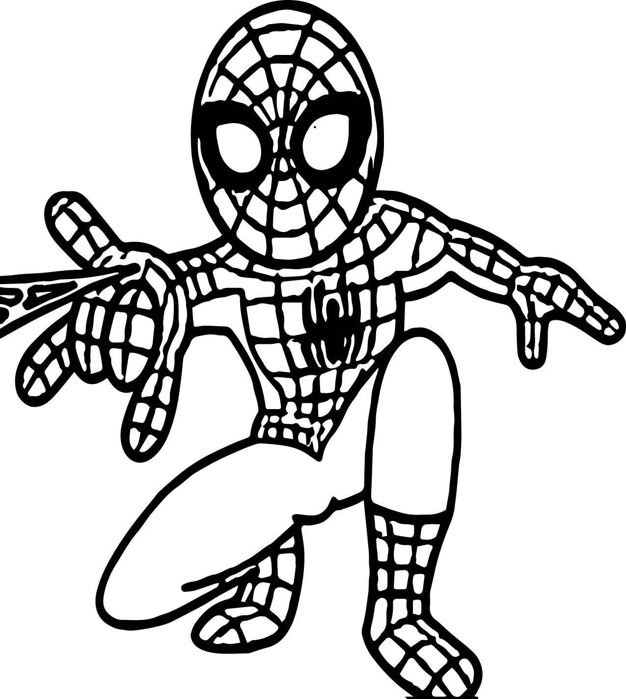 Small Spider Man Coloring Page