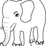 Smart Elephant Coloring Page