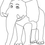 Smile Elephant Coloring Page