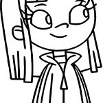 Snoobs Amy Andersong Girl Coloring Page