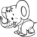 Snow Elephant Coloring Page