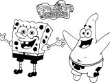 Sponge Sunger Bob And Patrick Happy Coloring Page