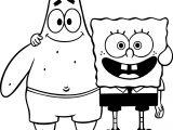Sponge Sunger Bob Patrick Squarepants Coloring Page