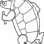 Sport Tortoise Joggin Turtle Coloring Page