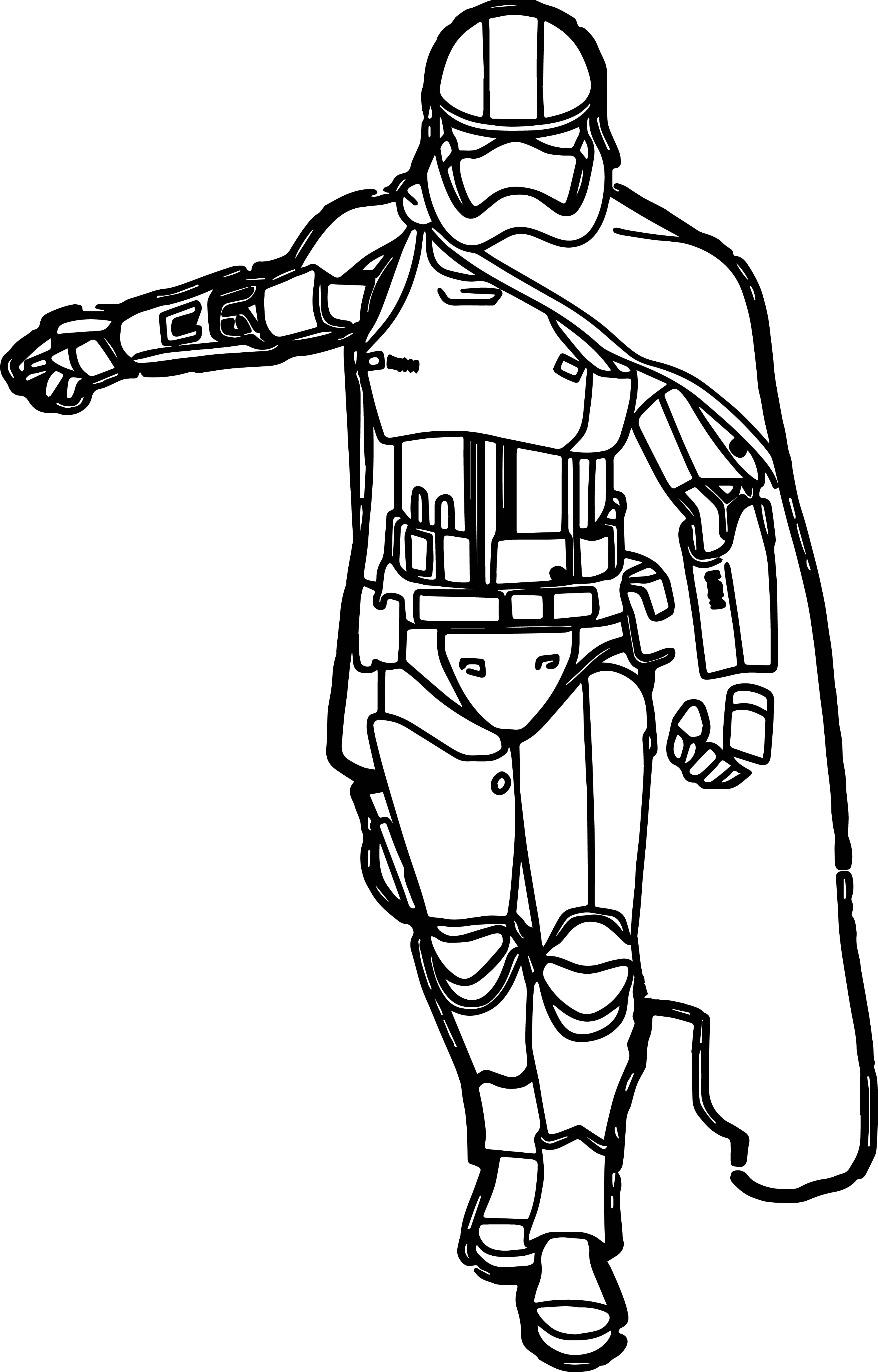 Star Wars The Force Awakens Captain Phasma Character Coloring Pages