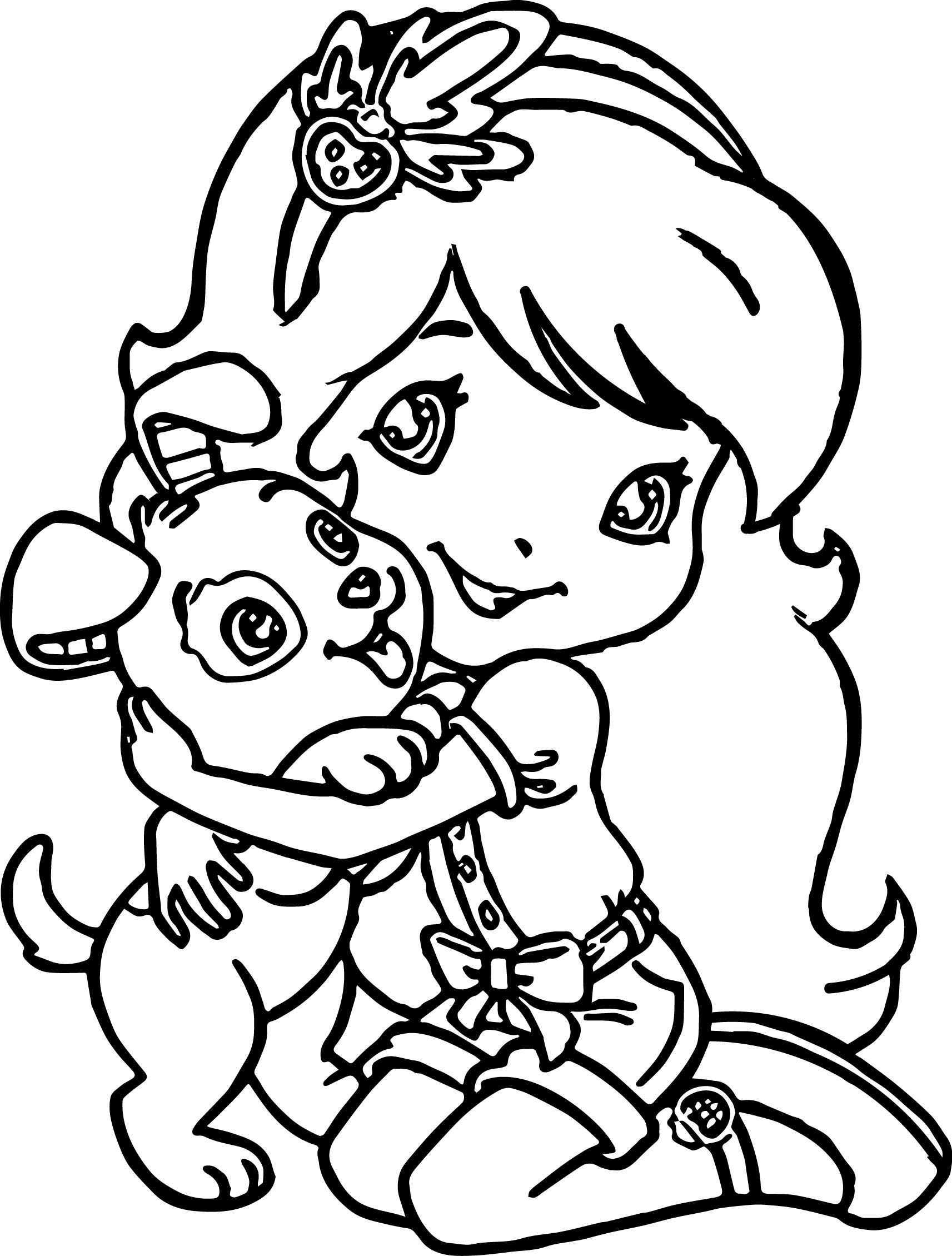 Detailed Dog Coloring Pages Girls
