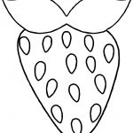 Strawberry Outline Coloring Page
