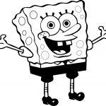 Sunger Sponge Bob Hello Coloring Page