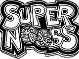 Supernoobs Logo Coloring Page