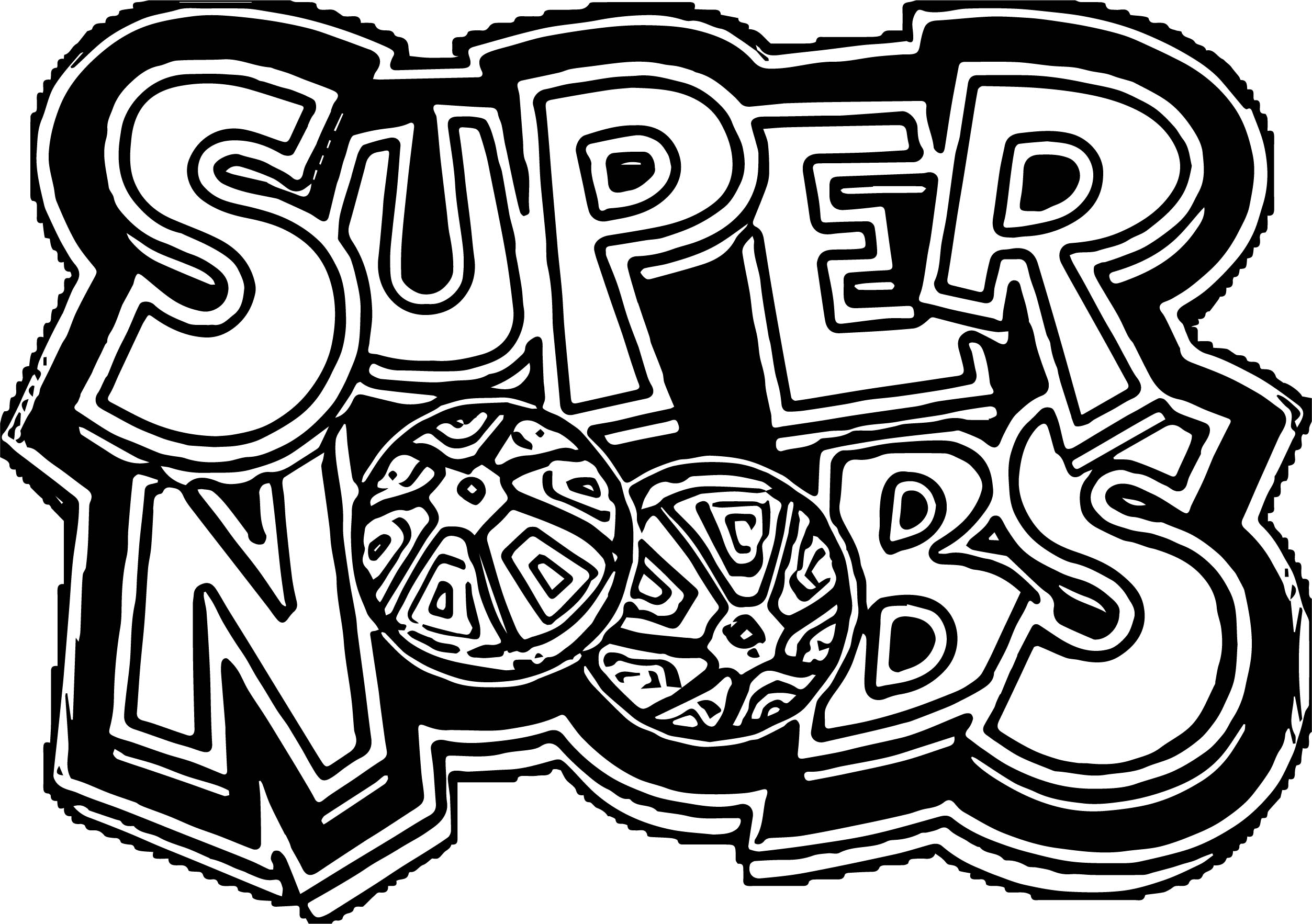 supernoobs logo coloring page wecoloringpage
