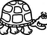 Talking Old Tortoise Turtle Coloring Page