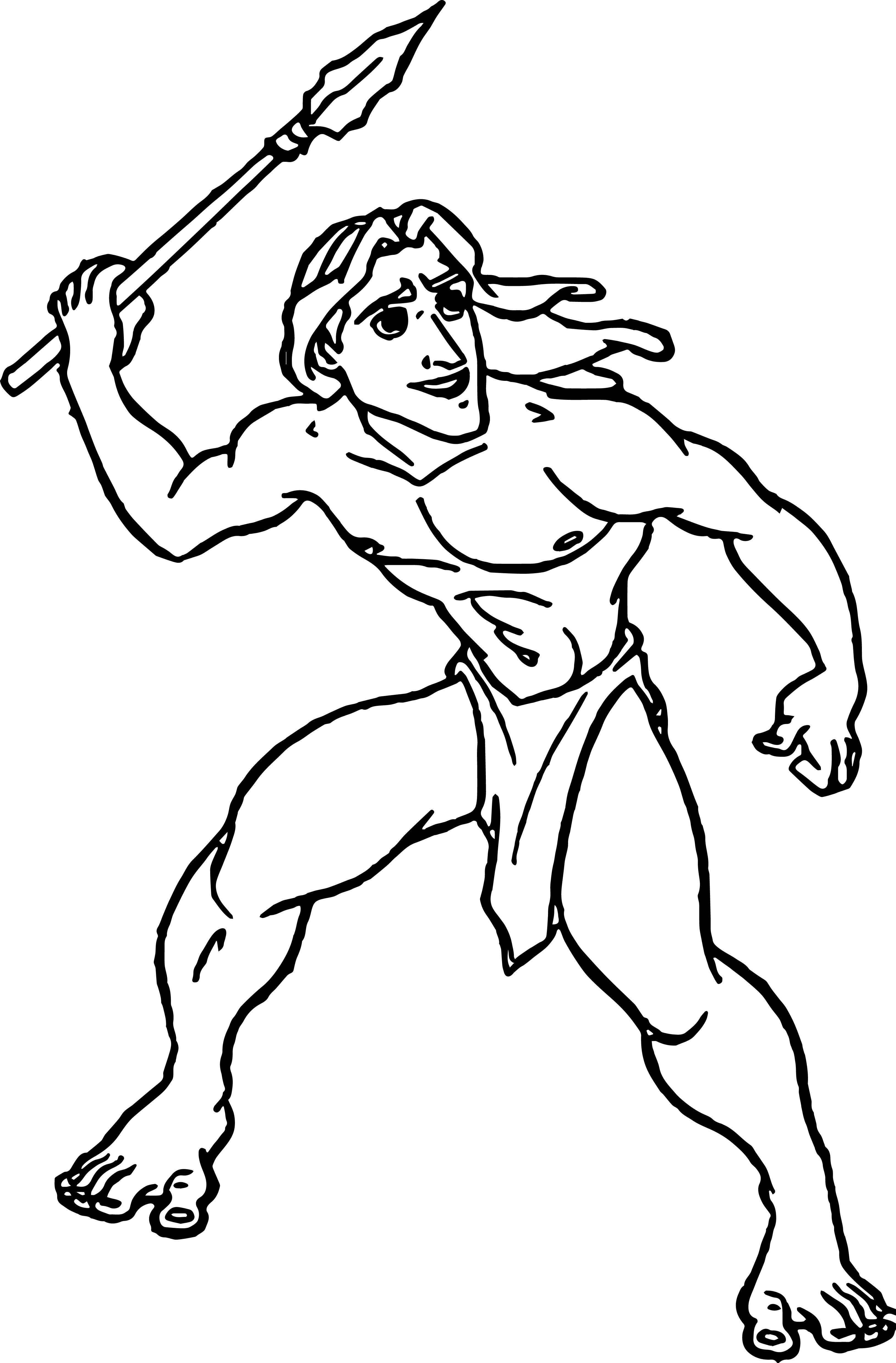 Tarzan Lance Coloring Page