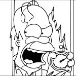 The Simpsons Clock Coloring Page