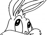 Thinking Baby Bugs Bunny Coloring Page
