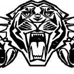 Tiger Attack Face Coloring Page