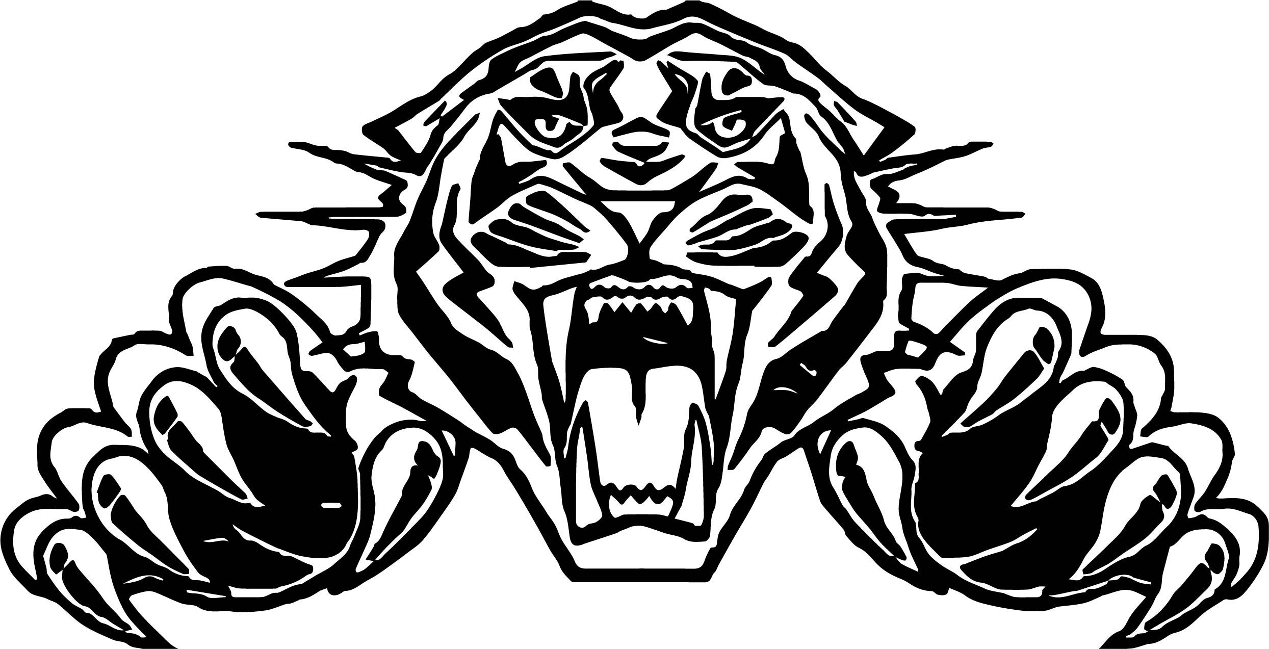 Tiger Football Coloring Pages. Tiger Attack Face Coloring Page  Wecoloringpage