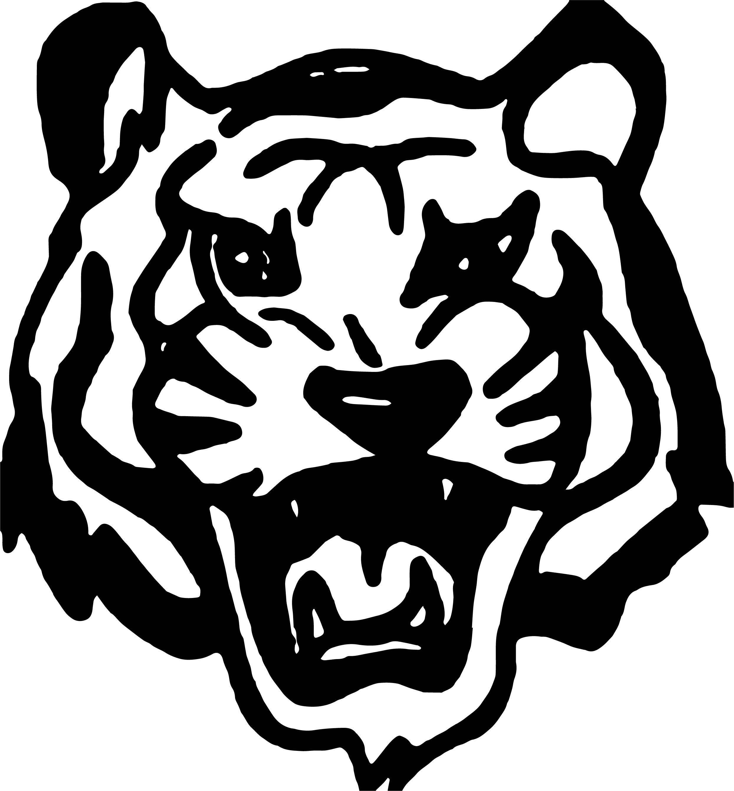 Tiger Black Face Coloring Page