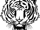 Tiger Cat Face Coloring Page