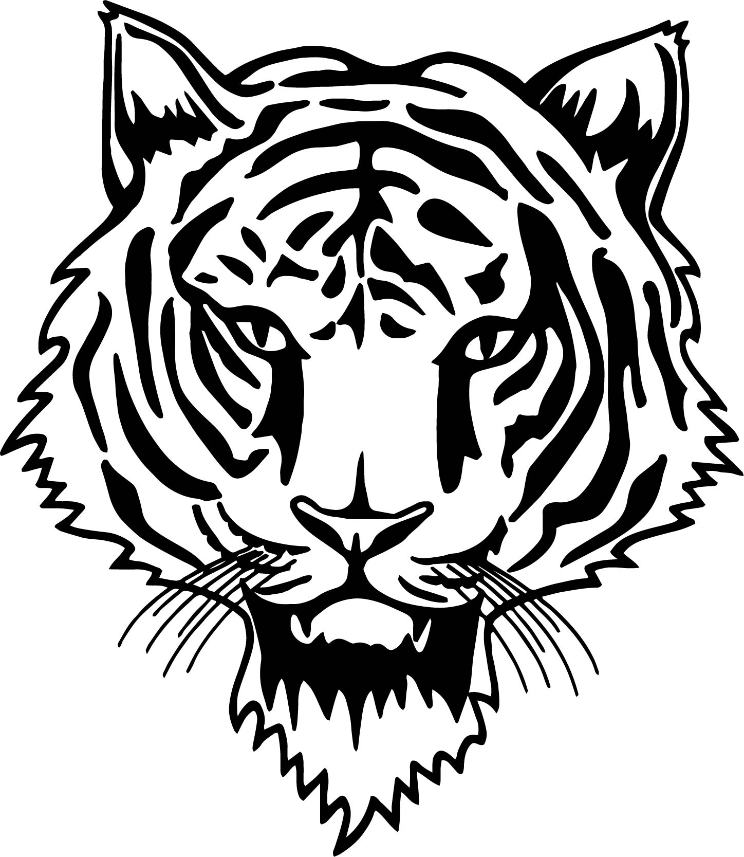 Tiger Cat Face Coloring Page Wecoloringpage Com