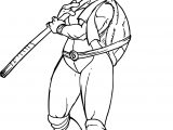 Tortoise Teenage Mutant Ninja Girl Turtle Coloring Page