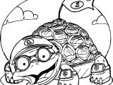 Tortoise Turtle Flag Coloring Page