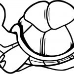 Tortoise Turtle Runner Coloring Page