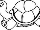 Tortoise Turtle Running Coloring Page