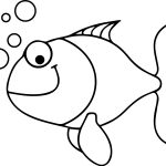 Under Water Cartoon Fish Coloring Page Sheet