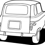 Vintage Antique Car Back Side Coloring Page