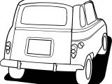Vintage Antique Car Back Side Coloring Page