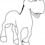 Walking Cartoon Horse Coloring Page