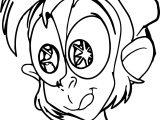 Walt Disney Prince Aladdin Characters Monkey Eye Shine Coloring Page