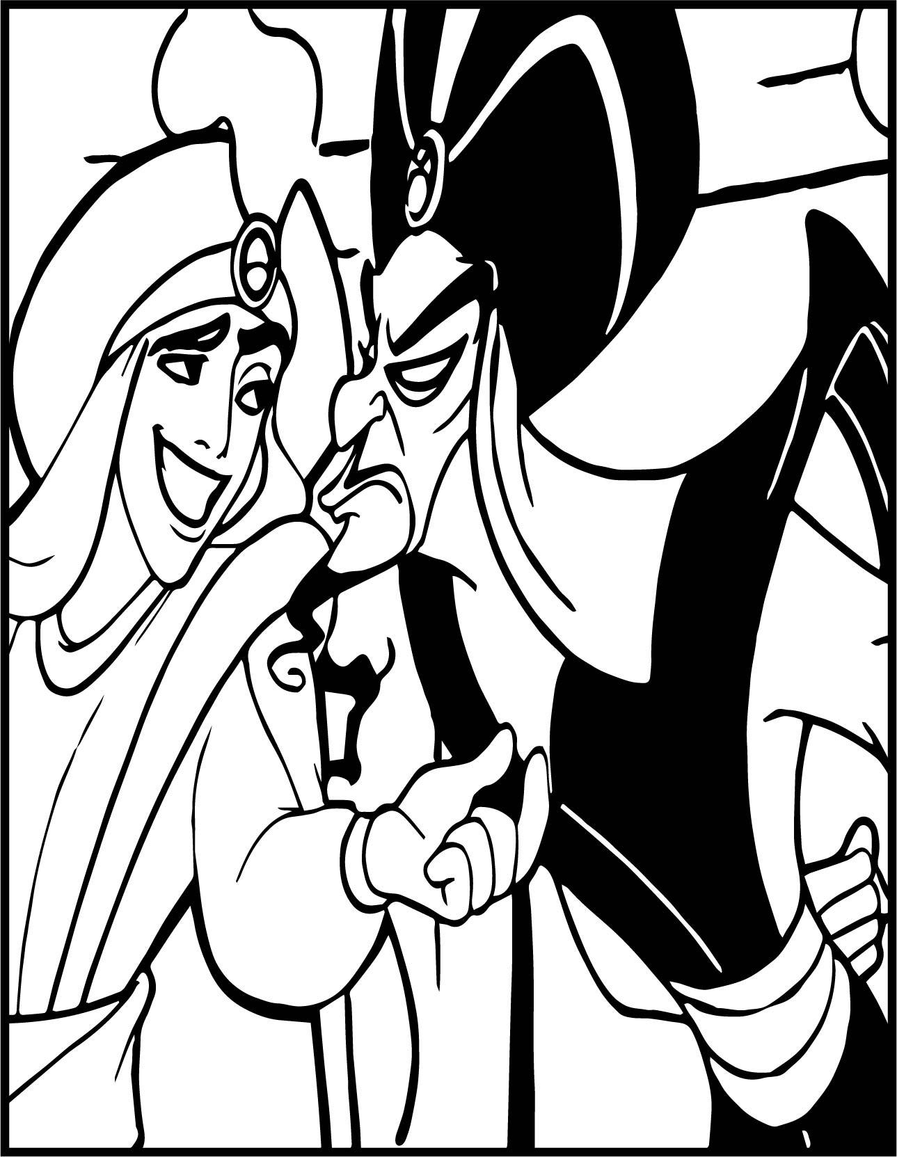 Walt Disney Prince Aladdin Walt Disney Characters Angry Coloring Page