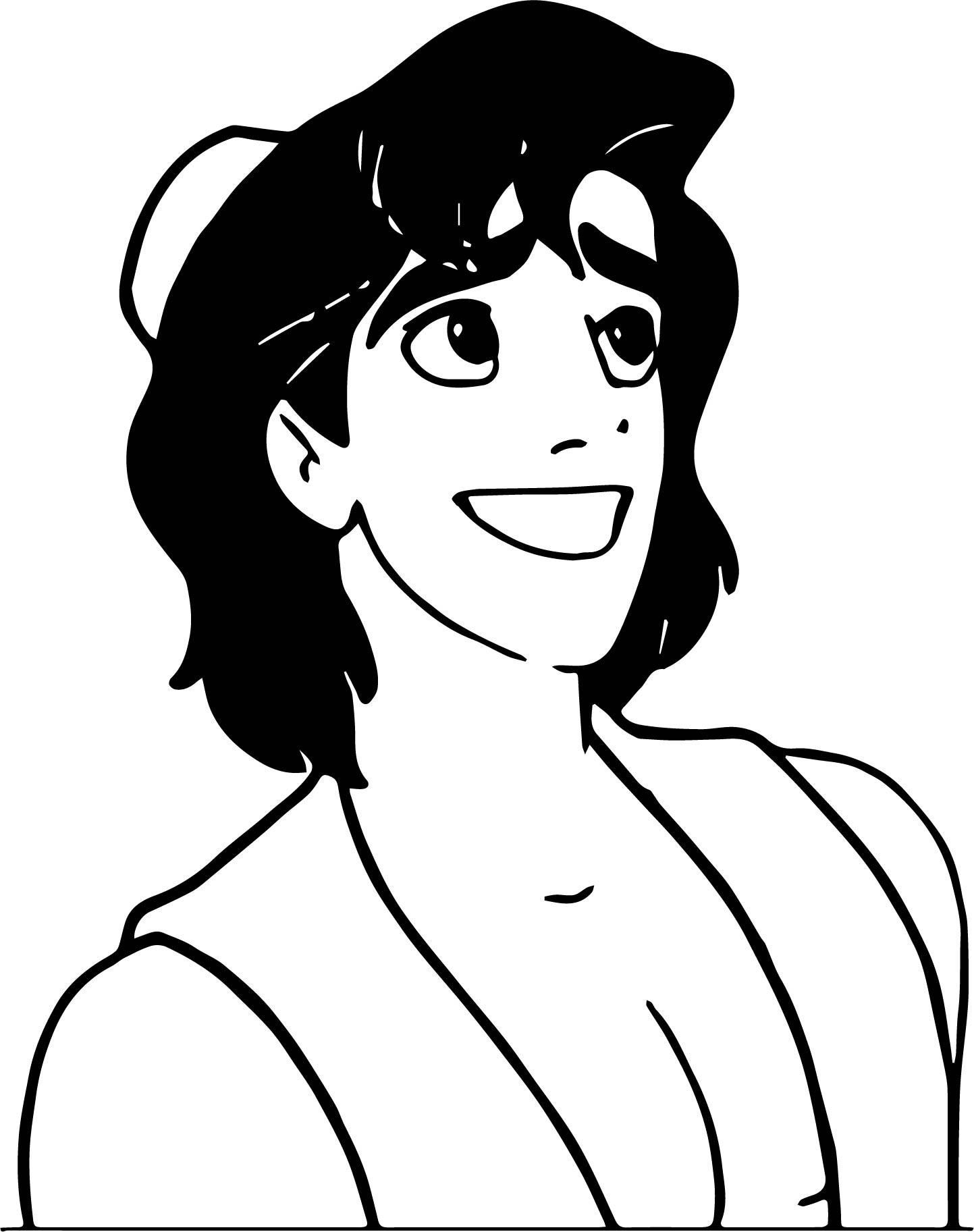 walt disney prince aladdin walt disney characters happy coloring