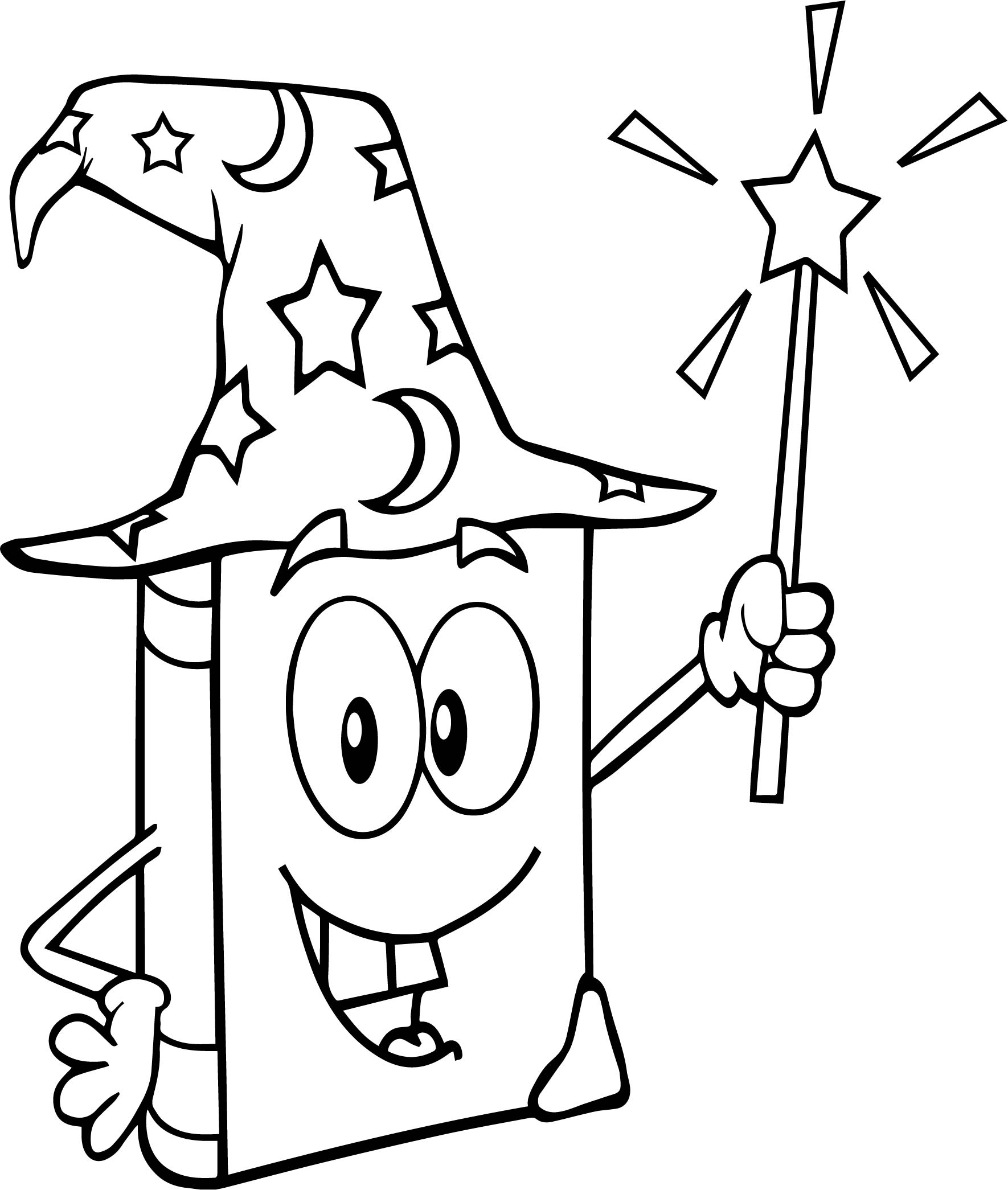 wizard book holding holding magic wand free printable coloring