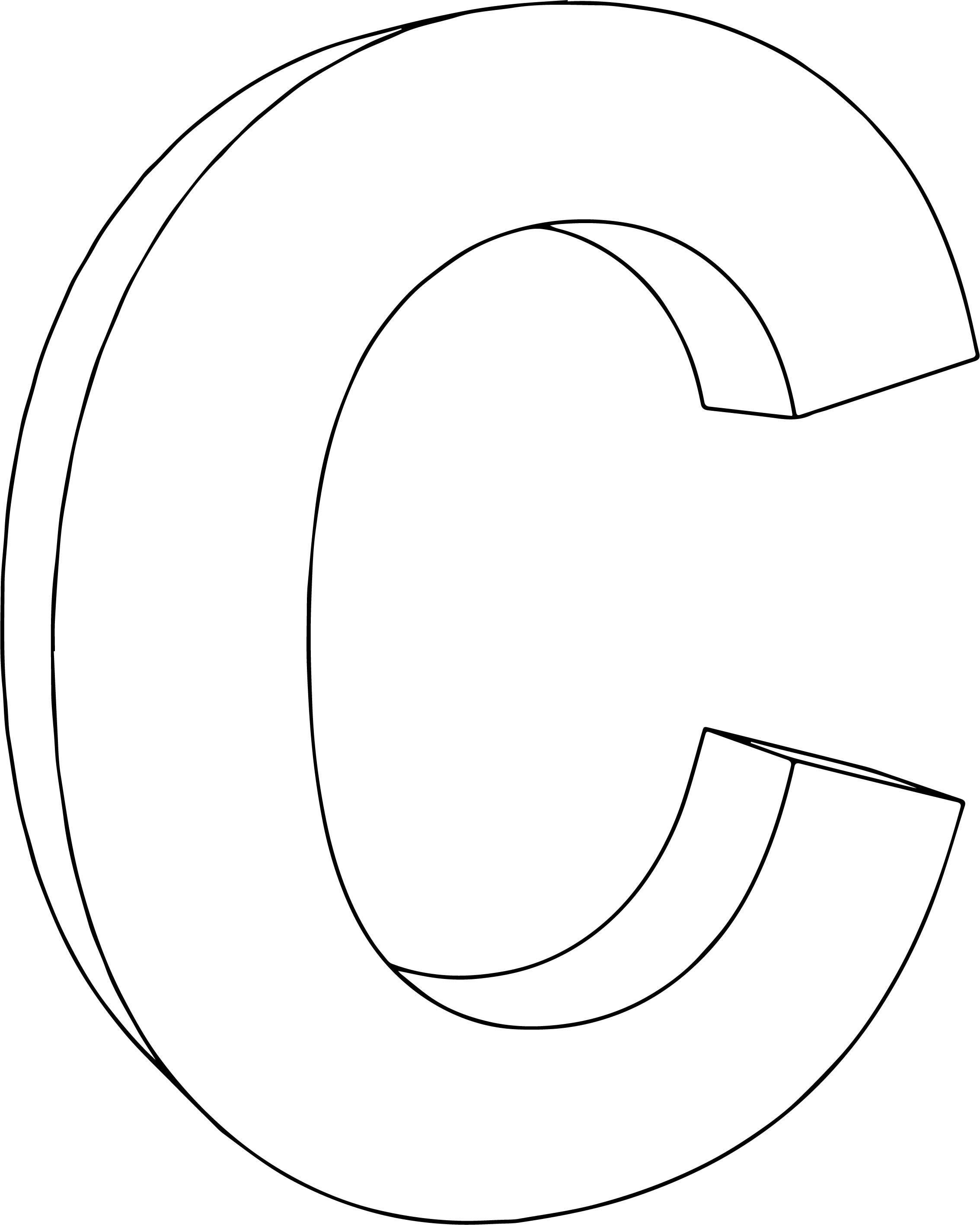 3d C Character Coloring Page